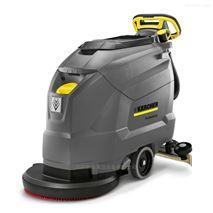 信陽電瓶洗地機凱馳手推式洗地吸幹機