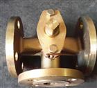 X44W三通全銅法蘭旋塞閥