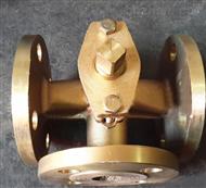 X44W三通全铜法兰旋塞阀
