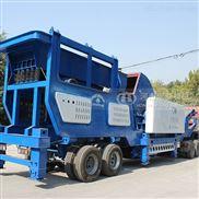 建築垃圾處理全套設備,輪胎式移動破碎站