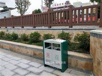 景洪市公园带锁垃圾箱  户外果皮箱款式图片