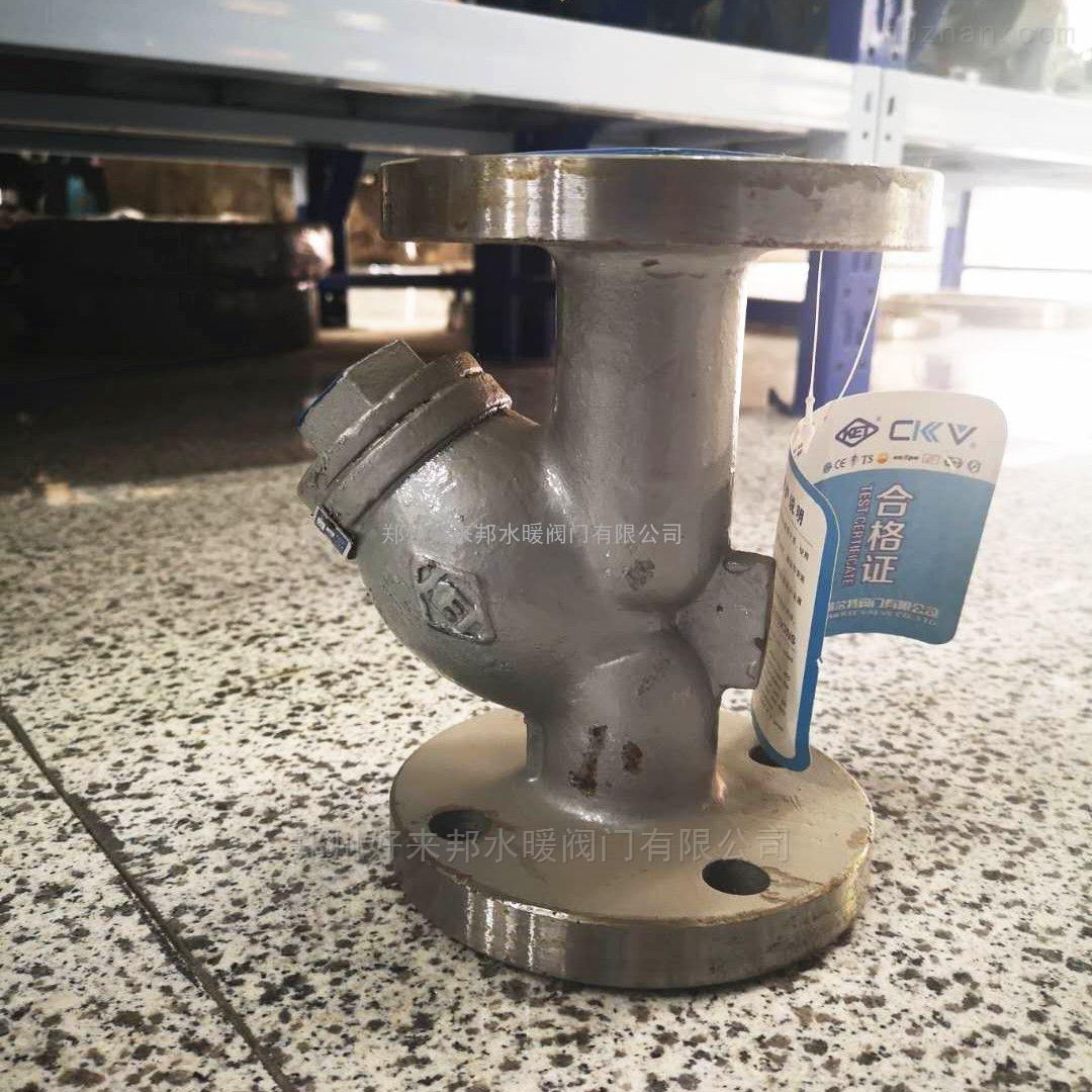 中国凯尔特铸钢法兰Y型过滤器