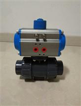 Q611F-10S DN50耐酸碱气动UPVC塑料球阀