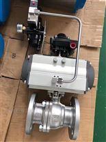 Q641F不鏽鋼氣動法蘭球閥(典昭)