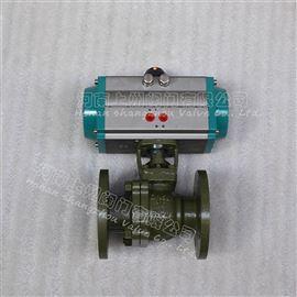 Q641F46氣動襯氟法蘭球閥