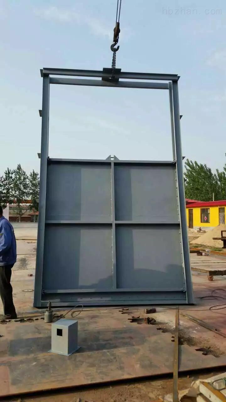 2米双向止水铸铁闸门的安装