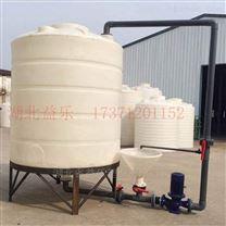 PE水箱搅拌站复配罐生产安装