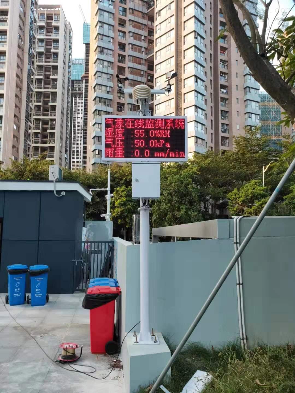 便捷式气象站在校园区示范性作用