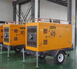 柴油发电排水泵车