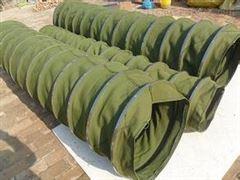 绿色纯棉帆布输送伸缩布袋   粮食专用
