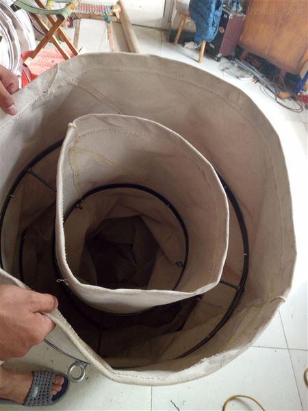 吊环帆布水泥除尘伸缩布袋 生产