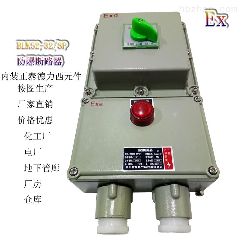 防爆断路器带漏电保护电源开关控制配电箱