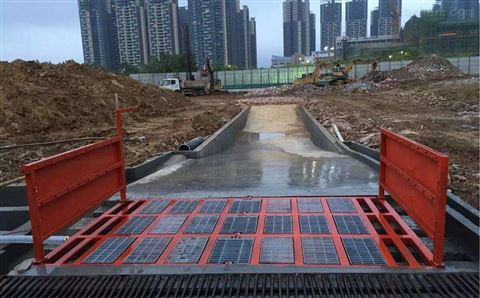 河南信陽煤礦廠洗車機工地洗車槽