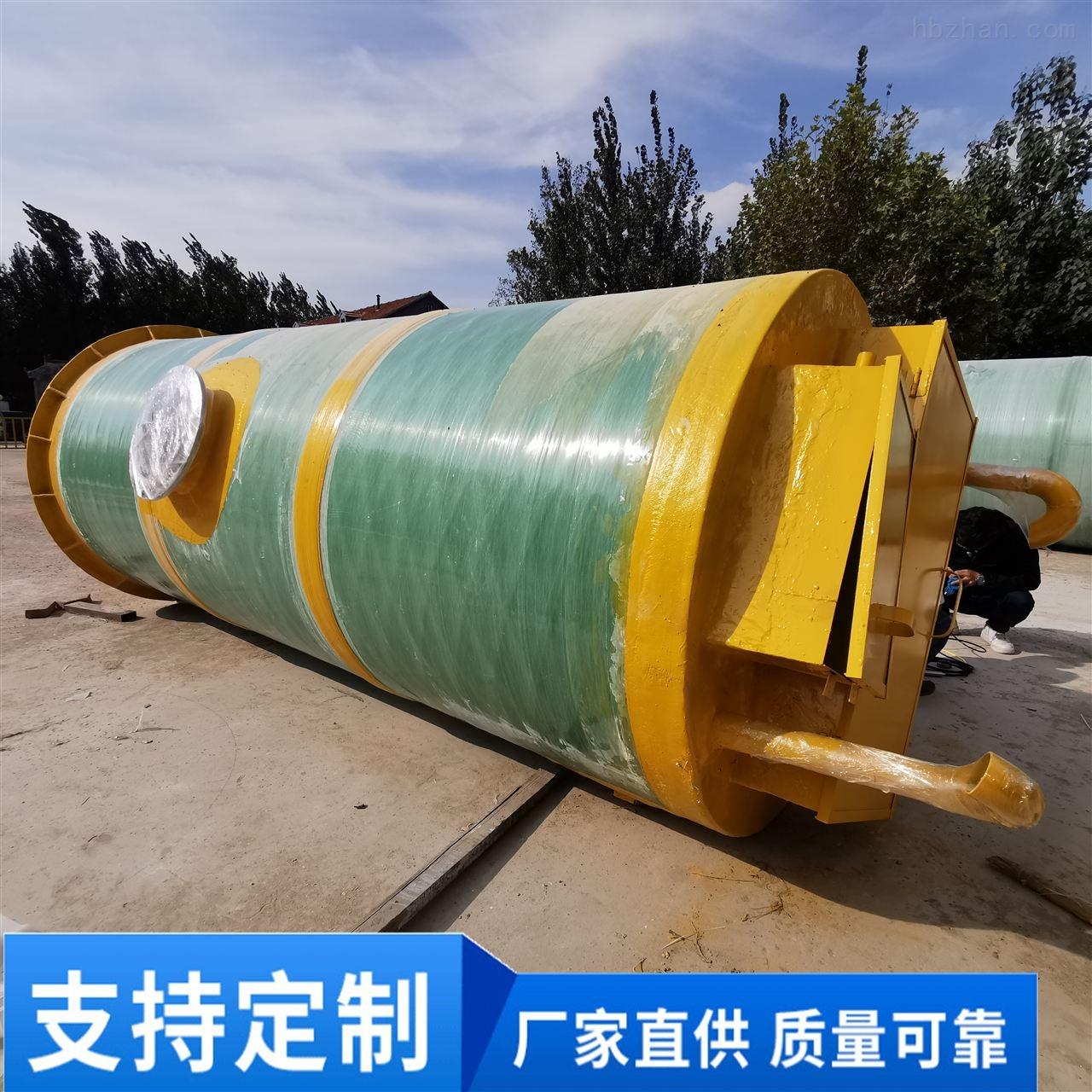 三门峡小区一体化预制泵站用于低洼处雨污水排涝
