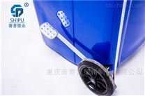 100L120L240升方形带轮侧边脚踩垃圾桶