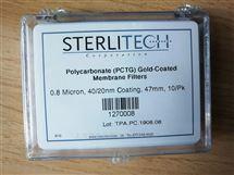 1270008Sterlitech 0.8um镀金共聚酯滤膜1270008