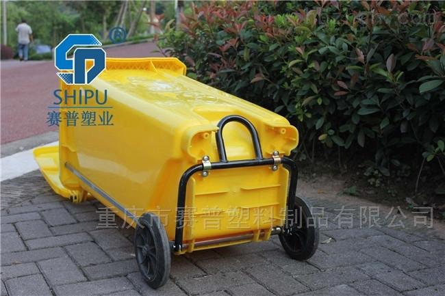 120L240L中间脚踩塑料分类垃圾桶价格