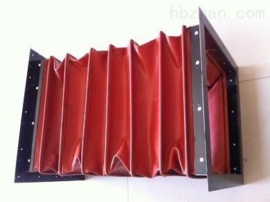 红色硅胶布除尘通风软连接