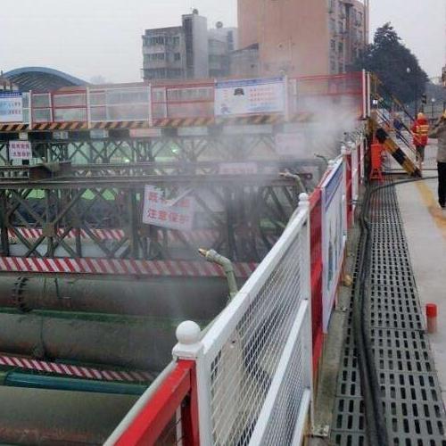武汉工地围挡喷淋系统循环运用清洗水源