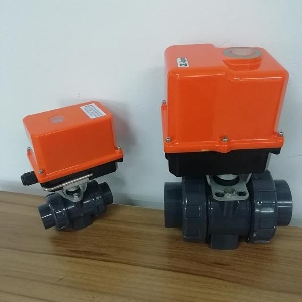 电动PVC塑料球阀Q911F-10U