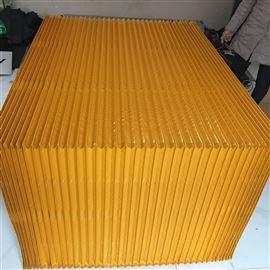 加厚黄色防尘布升降平台风琴防护罩