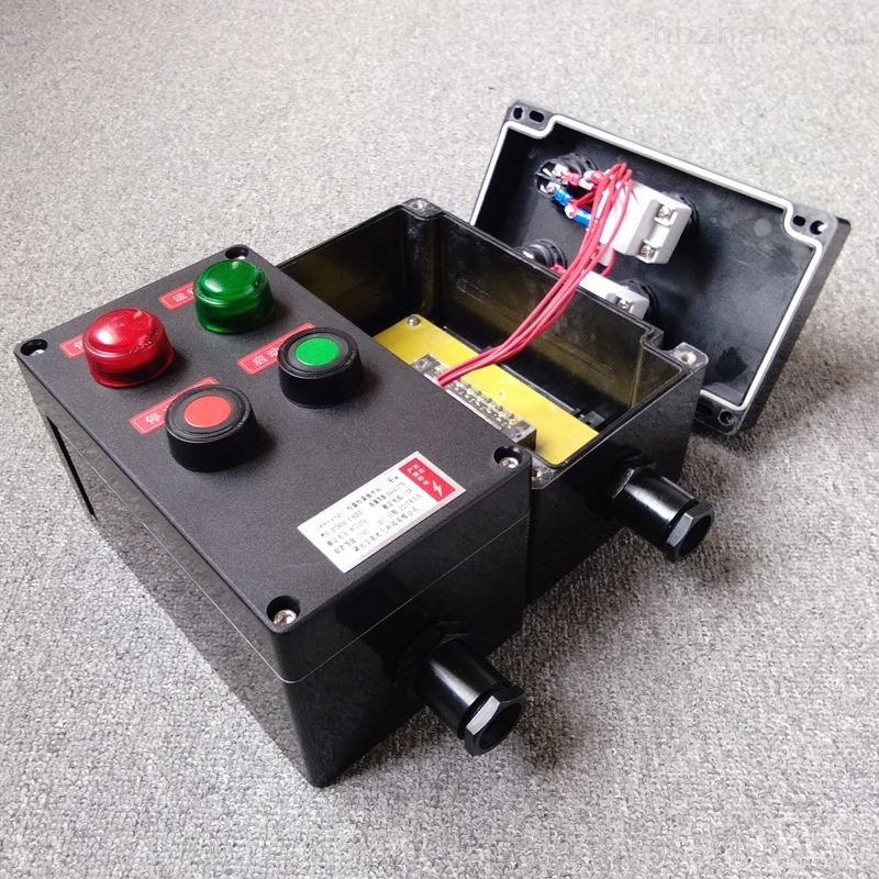 防爆现场控制箱立式防腐操作柱机旁按钮盒