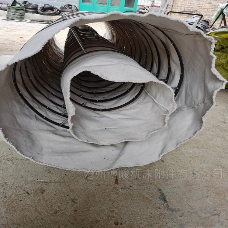 水泥输送粉尘帆布伸缩布袋厂家