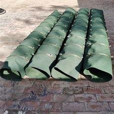耐拉伸钢丝圈支撑水泥卸料伸缩布袋规格