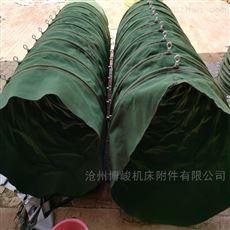 粉尘加湿输灰机卸料帆布伸缩布袋生产