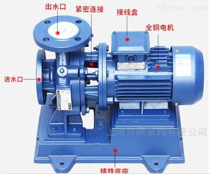 卧式单级管道离心泵