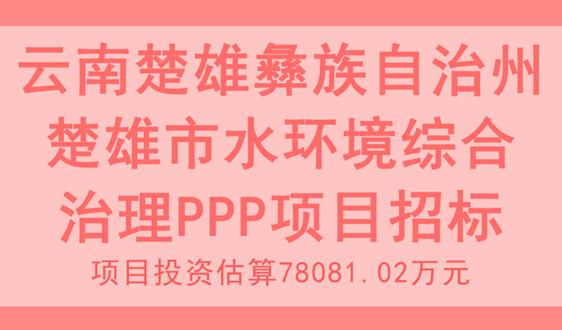 投資7.8億,雲南楚雄市水環境綜合治理項目招標