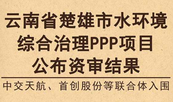 中交等联合体入围,云南楚雄市水环境项目公布结果