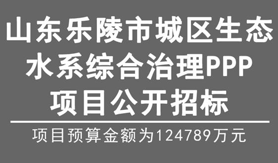 12.48億,山東樂陵市城區生態水系治理項目招標