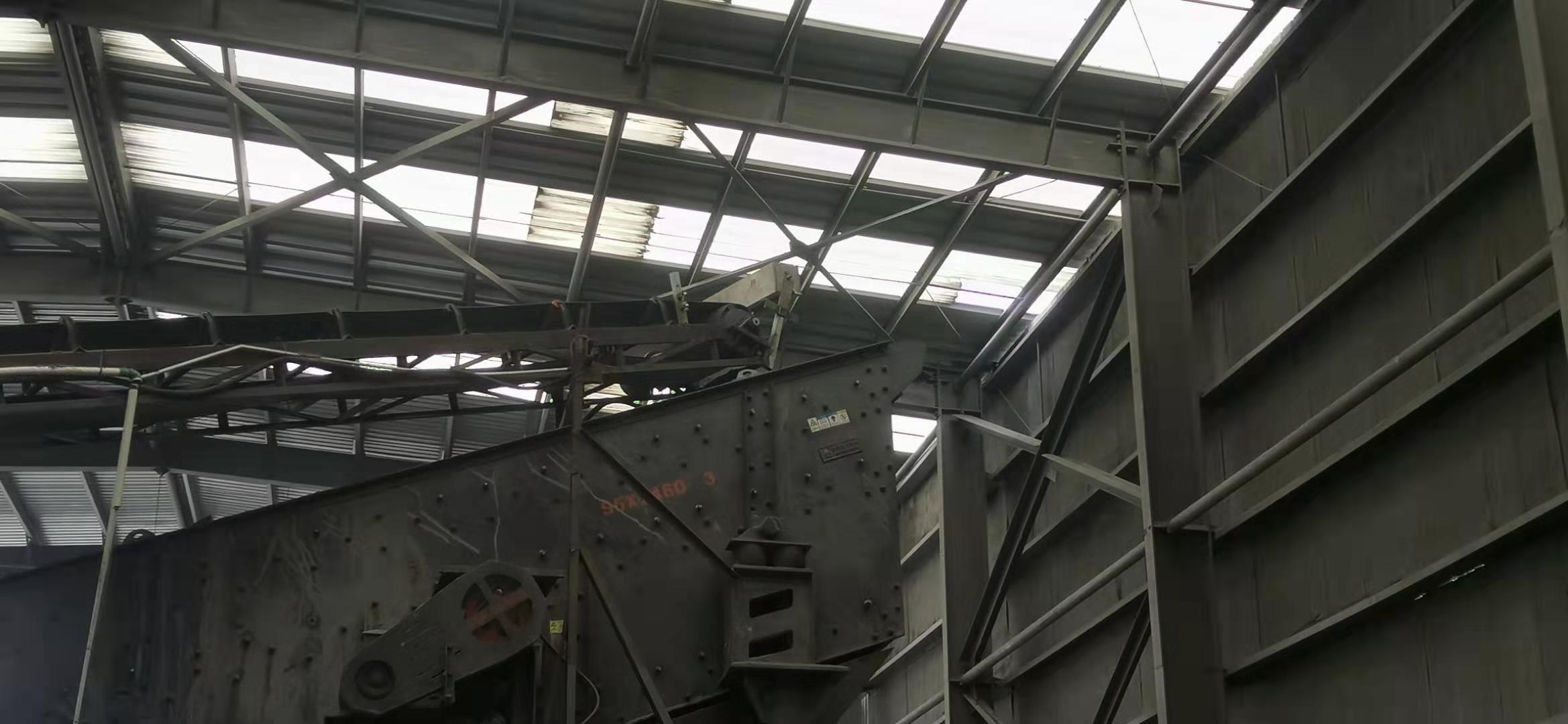 马鞍山石子料厂干雾抑尘设备施工中
