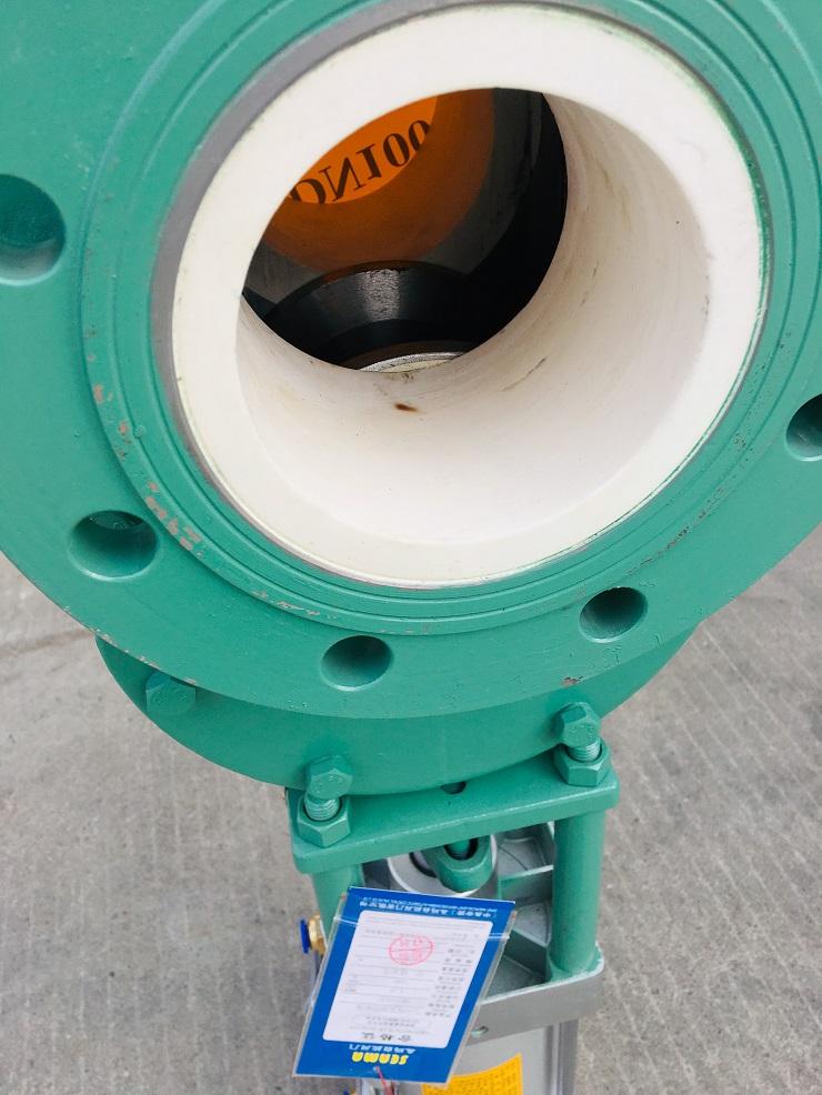 气动耐磨陶瓷双闸板阀SMZ644TC