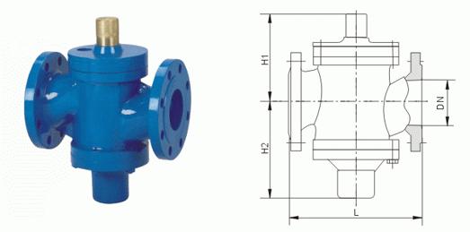 ZLF自力式平衡阀结构图