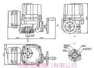 QT型电动防爆执行器结构图湖高
