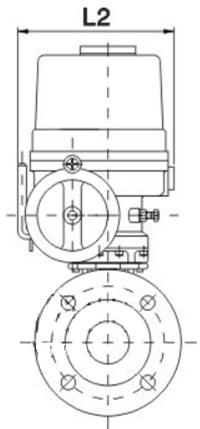 防爆电动衬四氟球阀结构图