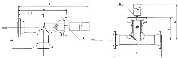 直通T型过滤器图