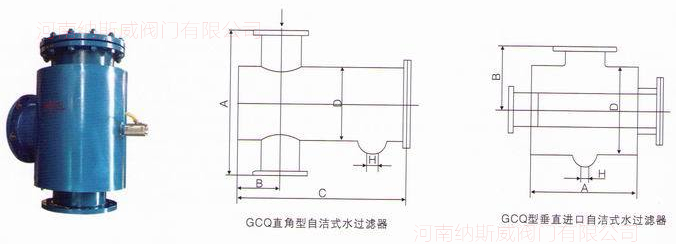 <strong><strong><strong><strong><strong><strong><strong>GCQ-L自洁式水过滤器</strong></strong></strong></strong></strong></strong></strong>结构图
