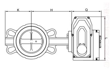 电动软密封对夹蝶阀结构图N1