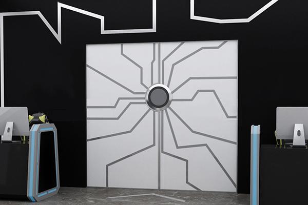 LED玻璃门